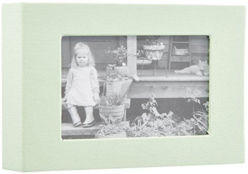 SEKISEI アルバム ポケット レミニッセンス ミニポケットアルバム フレーム Lサイズ 40枚収容 ライトグリーン L 21~50枚 布 黄緑色 XP-2240