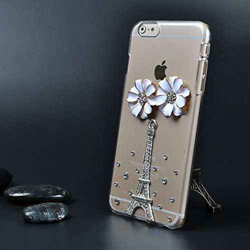 Iphone 6 Case,Ic Iclover[Crystal Series] [Perfect-Fit] Iphone 6 4.7 Case, 3D Crystal Rhinestone Diamond Bling Bumper Skin Case Glitter [Hard Case] Cover For Inch Iphone 6 Protect Case-Tower