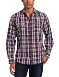 Dakota Grizzly Men's Harper Long Sleeve Western Snap Button Shirt, Twilight, Large