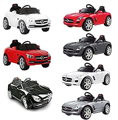 Rechargeable Electric 6V Remote Controlled Childrens Kids Ride on Car Manual Steering Mercedes