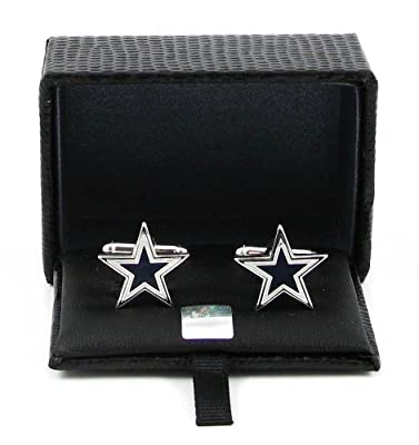 NFL Dallas Cowboys Cut Out Logo Cuff Link, Silver