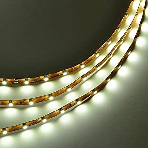 LEDwholesalers 16.4 Feet (5 Meter) Flexible LED Light Strip with 300xSMD3528 and Adhesive Back, 12 Volt, Neutral White 4000K, 2026NW