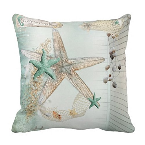 Best Buy! Starfish Square Throw Pillow Case Cushion Cover Fashion Home Decorative Pillowcase Cotton ...