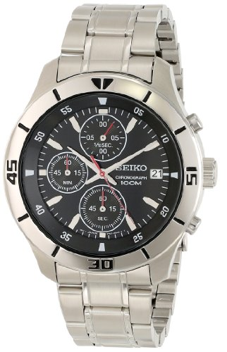 Seiko Men's SKS401 Analog Display Japanese Quartz Silver Watch