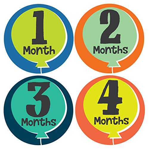 Little Fete Monthly Stickers - Baby Girl - Months 1-12
