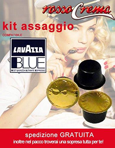 Kit Assaggio RossoCrema capsule compatibili Lavazza Blue (2 intenso + 2 arabica + 2 dolce)