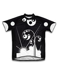 Black Swirls Short Sleeve Cycling Jersey for Women