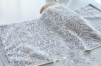 Color Grey : Thicken Hair-Drying Towel Bath Towel Leopard Print Pattern Towel