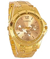 Fighter Full Gold Rosra Classic Men's Analog Watch - RosraGD