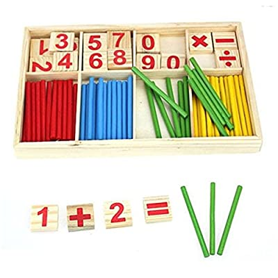 SMTSMT Kids Child Wooden Numbers Mathematics Learning Counting Educational Toy