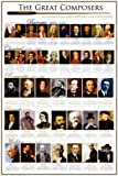Grande affiche plastifi�e Great Composers POSTER les Grands compositeurs dimensions approximativement 36x24 inches (91.5x61cm)
