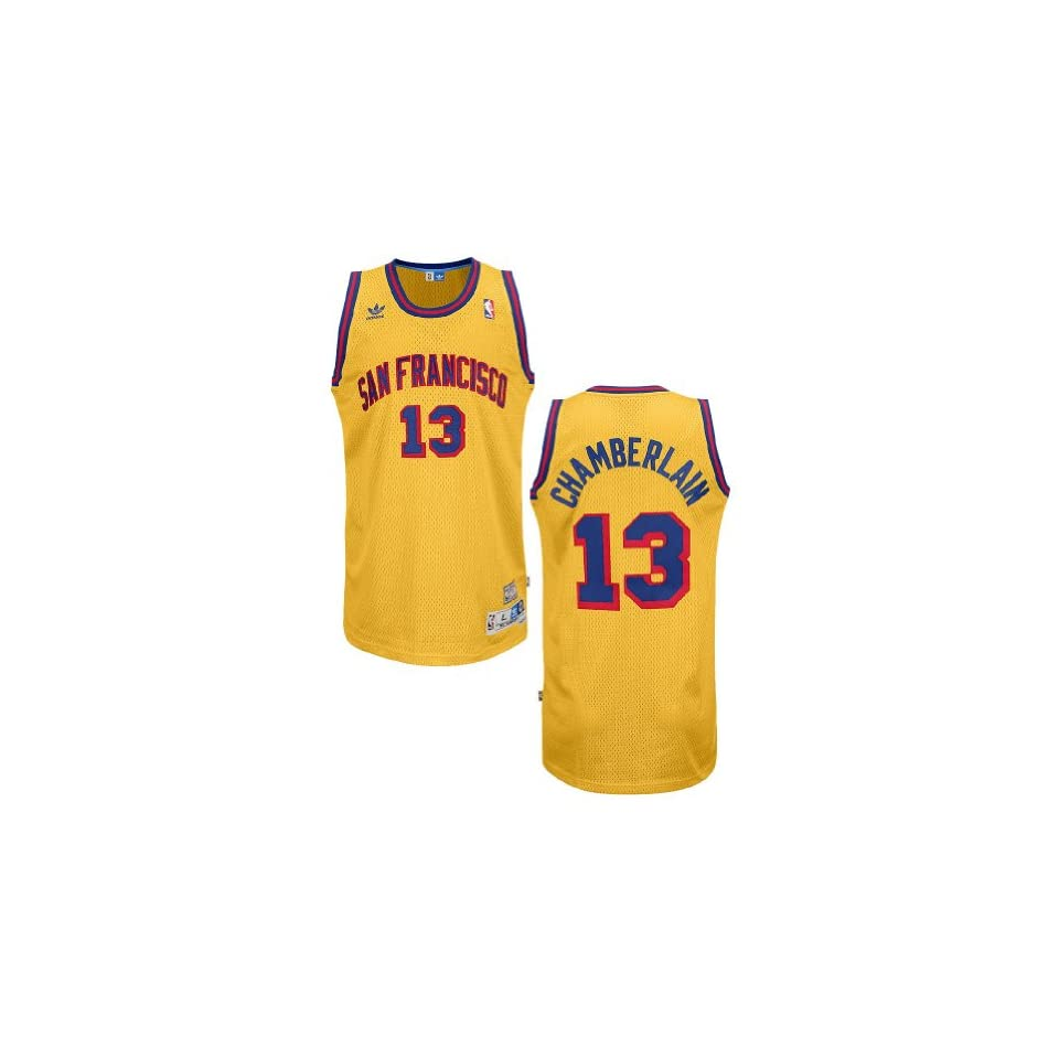 e5d6f0e44d2 Adidas Wilt Chamberlain San Francisco Warriors Embroidered Replica Throwback  Basketball Jersey