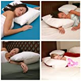 Better Sleep Pillow - Sleeping on Arm Under Pillow Best Reviews for Side and Stomach Sleepers and Neck Support