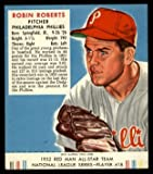 1952 Red Man Robin Roberts Phillies (Baseball Card) With Tab # 18 Dean's Cards 2 - GOOD