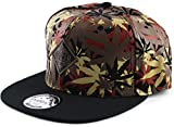 YCMI-Adjustable-Marijuana-Weed-Leaf-Snapback-Cap-Hat-for-Men-Baseball-Cap