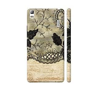 Colorpur Vintage Shabby Chic Black Lace On Gold Wood Designer Mobile Phone Case Back Cover For Lenovo A7000   Artist: UtART