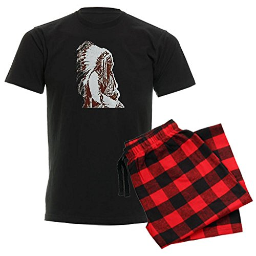 Cafepress Native American Chief Men'S Dark Pajamas Men'S Dark Pajamas - Xl With
