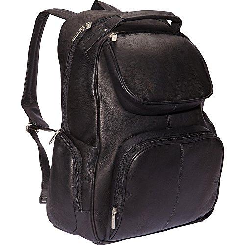 le-donne-leather-16-multi-pocket-laptop-back-pack-black