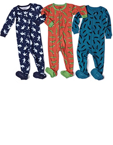 Because we love giving kids eco-friendly fabrics to wear right next to their skin, all of our boys long john pajamas are made from % organic cotton in a supersoft and washable knit. Even better, it's all finished using super-smooth flatlock seam construction.