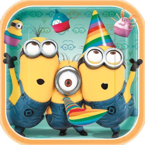 Despicable Me Lunch Plates - Birthday and Theme Party Supplies - 8 Per Pack - 1