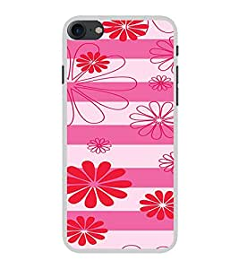 ifasho Designer Phone Back Case Cover Apple iPhone 7 ( Yellow Pink Diamond Colorful Pattern Design )
