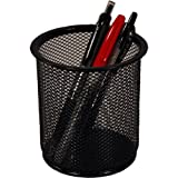 SPR90200 - Pencil Cup, Steel Mesh, 3-3/4x4-1/16, Black