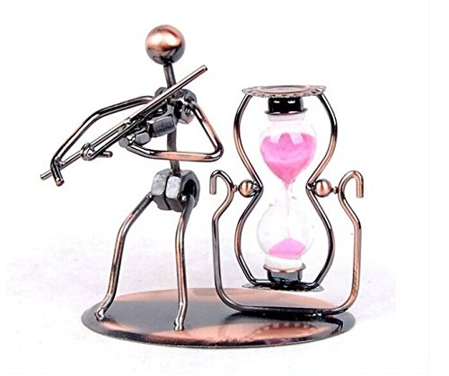 Violin Metal jewelry crafts creative home decorations ornaments Iron Music Man Sandglass timer (Outdoor Man Cricut Cartridge compare prices)