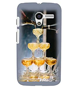 Printvisa Wine Glasses Pyramid Back Case Cover for Motorola Moto X XT1058::Motorola Moto X (1st Gen)