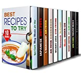 img - for Best Recipes to Try Box Set (10 in 1): Low Carb Mug Meals, Japanese, Air Fryer, Ice Cream, Crockpot, Freezer Meals and Camping Recipes to Try (Meals for Busy People) book / textbook / text book