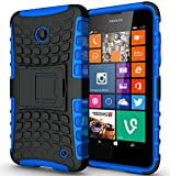For HTC Desire 620 / HTC Desire 620 Dual SIM / HTC Desire 620 Dual SIM Hard Silicone Strong Heavy Duty Shock Proof Dual Layer Armour Protective Case Cover with Built-in Stand in BLUE with MINI Stylus Touch Screen Pen and Screen Protector