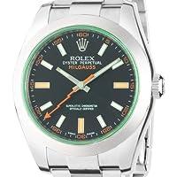 [ロレックス]ROLEX ミルガウス グリーン ブラック文字盤 SS 腕時計 Ref.116400GV メンズ 【並行輸入品】