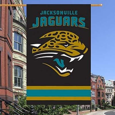 """NFL Jacksonville Jaguars 44"""" x 28"""" Black Applique NFL Flag"""