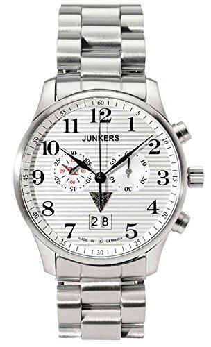 Junkers uomo-orologio Cronografo in acciaio inox luenette 6686M1