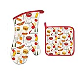Michel Design Works Bundle - 2 Items: Barbecue Oven Mitt and Barbecue Pot Holder
