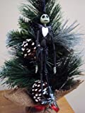 14 Mini Artificial Christmas Tree with Jack Skellington Hinged Ornament
