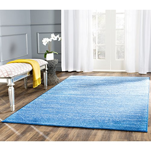 Safavieh Adirondack Collection ADR113F Light Blue and Dark Blue Modern Abstract Area Rug (5'1