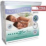 Protect-A-Bed BOM0509 AllerZip Waterproof and Bug Proof Zippered Bedding Encasement, Queen