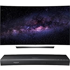LG OLED65C6P 65-Inch C6 Series Curved 4K UHD OLED HDR 3D Smart TV with Samsung UBD-K8500 3D Wi-Fi 4K Ultra HD Blu-ray Disc Player