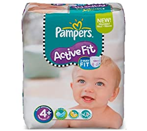 Pampers Active Fit Size 4+ (Maxi+) Monthly Pack - 140 Nappies