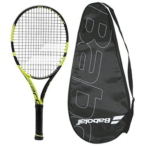Babolat Pure Aero Plus - 2016 AeroPro Drive Plus - STRUNG with COVER Tennis Racquet