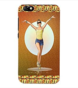 ColourCraft Cool Girl Back Case Cover for HUAWEI HONOR 4X