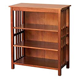 DonnieAnn Hollydale Simple Yet Beautiful 36 - inch Chestnut Bookcase