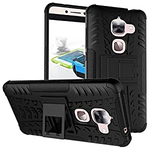 True Collection Stand Spider Hard Dual Rugged Armor Hybrid Bumper Back Case Cover For LeeTv Lee MAXX BLACK-3