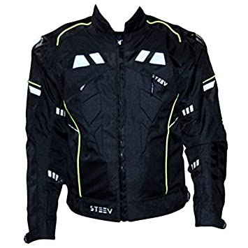 Blouson moto STEEV TARGA V2 - Textile - Noir