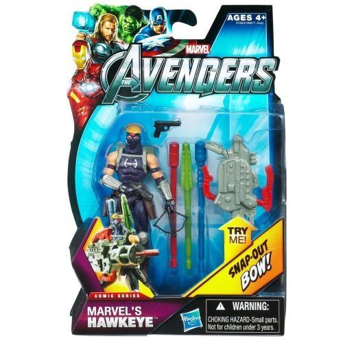 Marvel The Avengers Movie Comic Series Action Figure, Hawkeye #05, 3.75 Inches by Hasbro (English Manual)