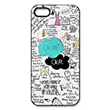 Custom Your Own Okay The Fault in Our Stars- John Green iPhone 5 Case, personalised Okay Iphone 5 Cover