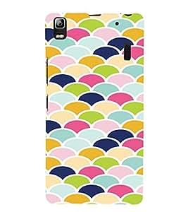 PrintVisa Pastel Colorful Pattern 3D Hard Polycarbonate Designer Back Case Cover for Lenovo A7000