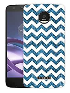 "Chevron Glitter Pattern - BluePrinted Designer Mobile Back Cover For ""Motorola Moto Z Force"" (3D, Matte, Premium Quality Snap On Case)"