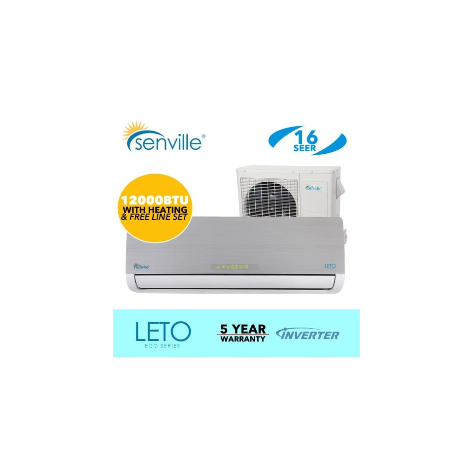 12000 BTU Ductless Split Air Conditioner   Senville Leto   With Heat Pump   Energy Star Qualified Air Conditioners