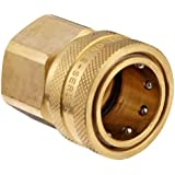 Dixon STFC Series Brass Hydraulic Quick-Connect Fitting, Coupling x NPTF Female
